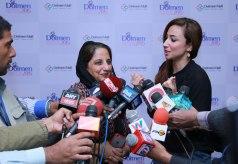 Mrs Shanaz Ramzi giving an interview